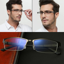 Homem óculos de visão míope prescrição miopia 0 -0.5 -1 -1.5 -2 -2.5 -3 -4 -5 -6 anti luz azul ultraleve miopia óculos