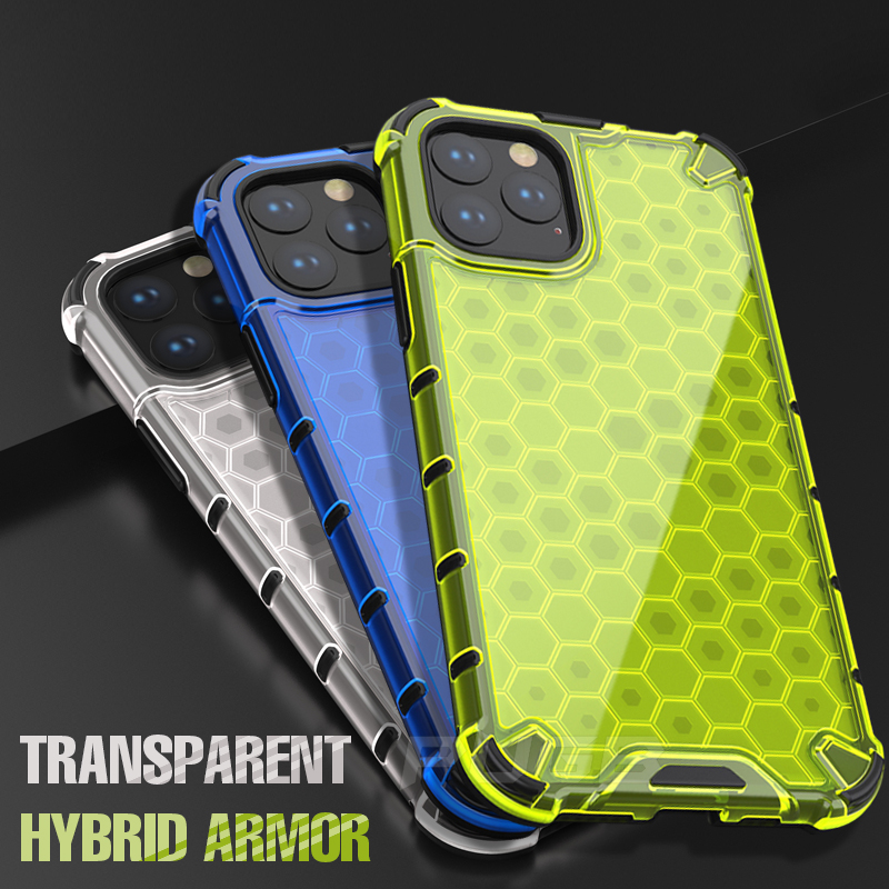 Airbag Shockproof <font><b>Armor</b></font> <font><b>Case</b></font> on <font><b>For</b></font> <font><b>iPhone</b></font> 11 Pro <font><b>max</b></font> Honeycomb transparent hard <font><b>Case</b></font> <font><b>For</b></font> <font><b>iphone</b></font> xr <font><b>x</b></font> <font><b>xs</b></font> <font><b>max</b></font> 6 6s 7 8 plus Cover image