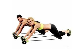 Ab Wielen Abdominale Roller Weerstand Bands Pull Rope Oefening Thuis Voor Buikspier Trainer Sporter Fitnessapparatuur(China)