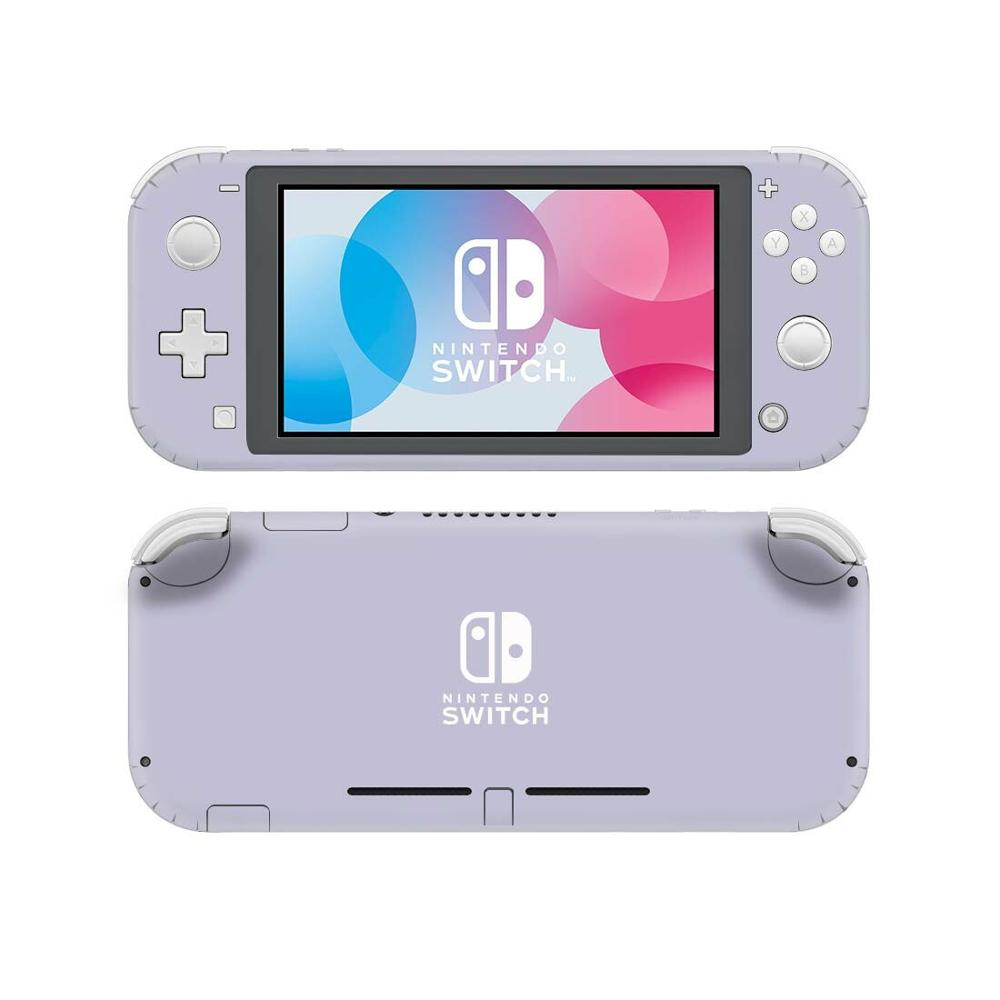 Pure Color Purple NintendoSwitch Skin Sticker Decal Cover For Nintendo Switch Lite Protector Nintend Switch Lite Skin Sticker(China)