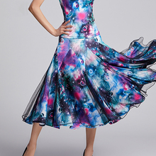 Modern Dance Wear Lady New Big Hemlines Skirt Ballroom Natio