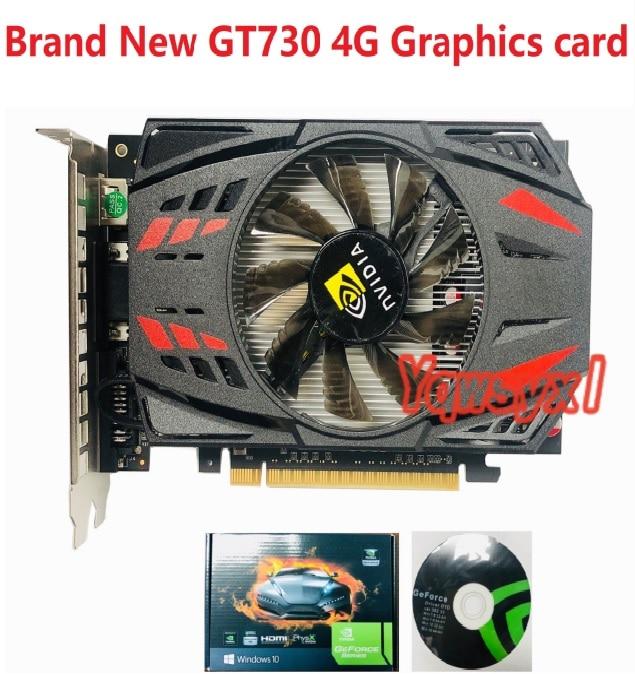 Yqwsyxl Brand New NVIDIA GeForce GT730 4GB DDR5 128Bit PCI Express Game Video Card Graphics Card Free Shipping