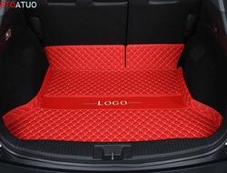 Автомобильный коврик для багажника, поднос для багажника, автомобильный ковёр для груза, багажная грязевая Подушка, аксессуары для Volkswagen Golf...