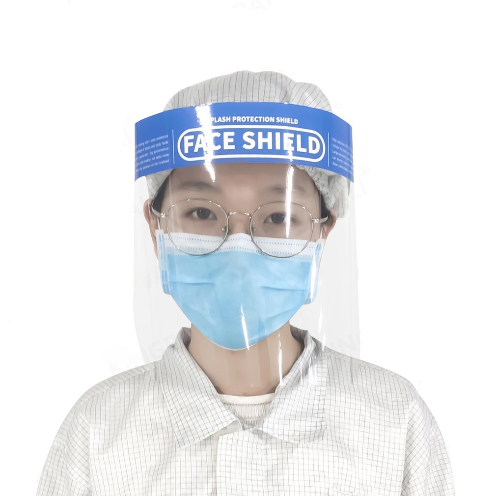 1 Pcs Home Travel Protective Face Screen Double-Sided Anti-Fog Prevent Toxic Liquid Splashing From Droplets Mask