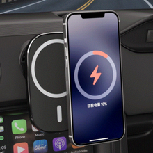 15w 자동차 마그네틱 무선 충전 마그네틱 휴대폰 홀더 충전기, 아이폰 12 프로 맥스 미니, 대부분의 공기 배출구에 적합