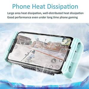 Image 3 - Mobile Phone Cooler Handheld Radiator Grip Support PUBG Phone Cooling Fan Holder Heatsink Stand For Gaming Live Broadcast