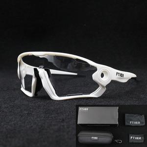 Фотохромные велосипедные очки для мужчин и женщин, UV400, уличные спортивные дорожные велосипедные очки, солнцезащитные очки для езды на вело...