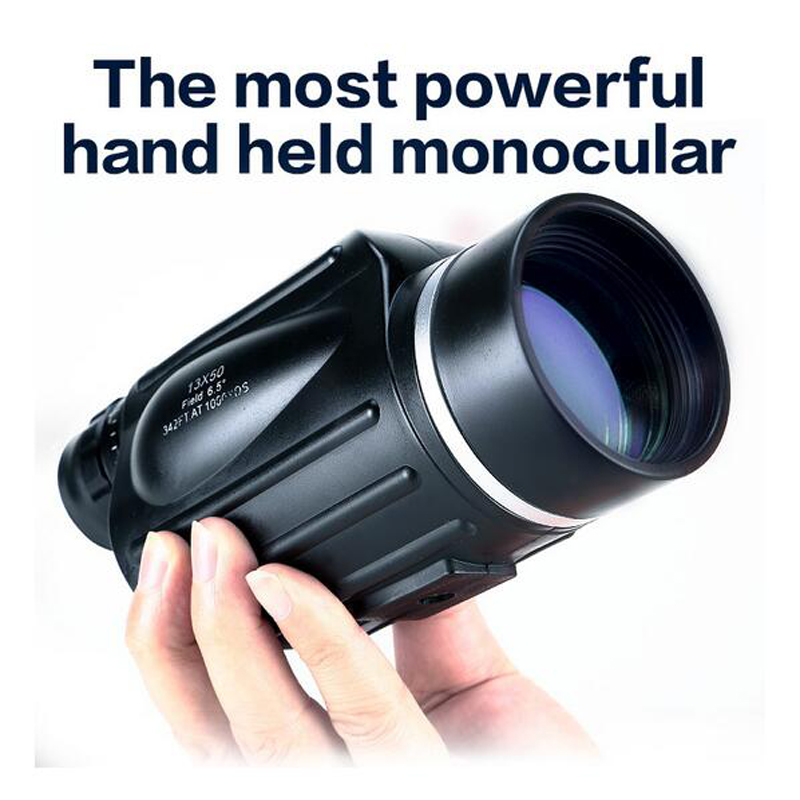 GOMU 13x50 ტელესკოპი Monocular Rangefinder წყალგაუმტარი ბინოკლები Bak4 Prism მაღალი დონის გარე ტურიზმი Lll ღამის ხედვა Spyglass