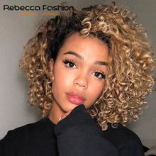 Rebecca L Part Water Wave Human Hair Lace Wigs For Black Wom
