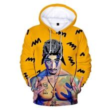 3d Hoodies Tracksuits Sweatshirts Long-Sleeve Kpop with Cap 2pac Gangsta Rap Hip-Hop