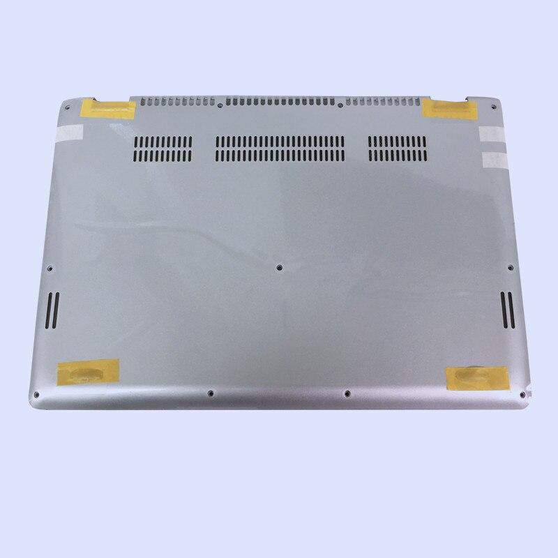 Новая Оригинальная ЖК-задняя крышка для ноутбука/передняя рамка/Упор для рук верхняя/Нижняя чехол для LENOVO Yoga 3-14 YOGA 700-14ISK серия - Цвет: silver bottom case