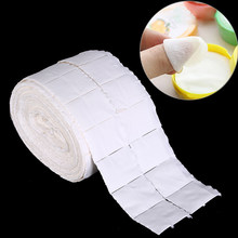 500Pcs Wit Doekjes Nail Cleaning Papers Poolse Acryl Gel Remover Handdoek Papier Katoen Pads Roll Salon Nail Art Cleaner gereedschap(China)