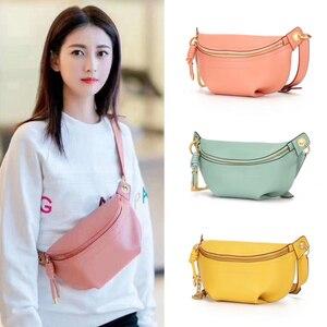 Image 5 - MAHEU Genuine leather waist bags women designer fanny pack fashion belt female lady wait pack bum bag cowskin single shouder bag
