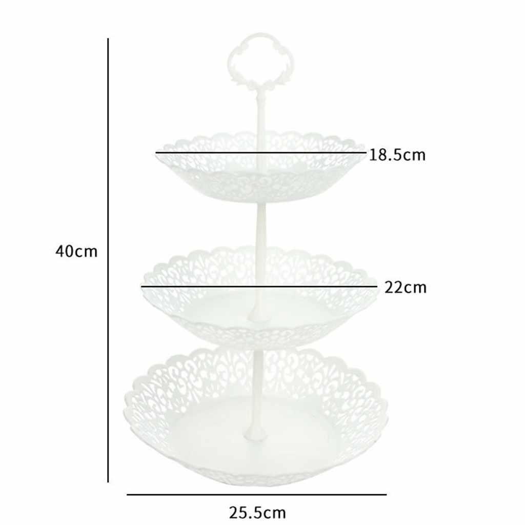 Nouveau 3 niveaux de mariage fête d'anniversaire gâteau plaque support bonbons plateau Cupcake affichage tour chaude Non-plaque support étagères décoration outils