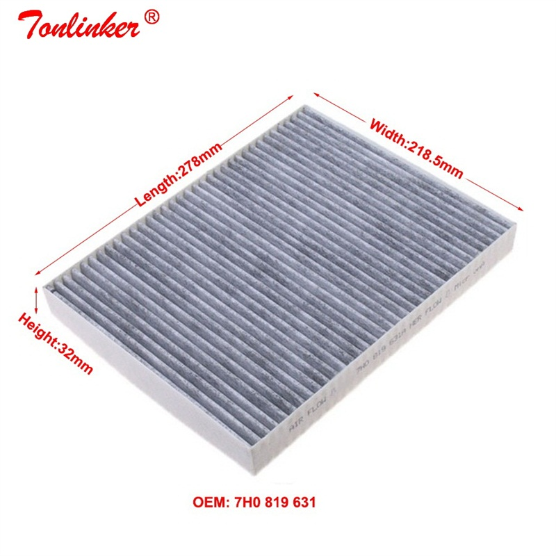 Image 4 - Cabin Filter 7H0819631 For Audi Q7 4L 2006 2015 3.0TDI 3.6FSI 4.2TDI Model 1Pcs Built in Carbon Air Conditioning  Filter-in Cabin Filter from Automobiles & Motorcycles
