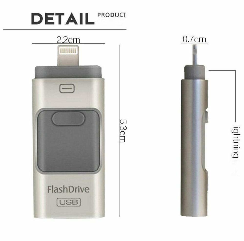 OTG Usb Flash Drive For Iphone 8/7/6s/6s Plus/6/5/5S/5C/ipad Memory Stick 32gb 64gb 128 Gb Pen Drive 256gb OTG IOS Usb Flash 3.0