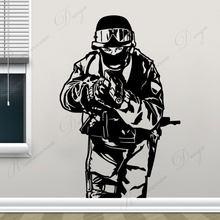 La lucha contra el terrorismo la fuerza equipo Swat de la pared de la etiqueta engomada vinilo decoración casa hogar niño habitación pared calcomanías extraíble Wallpape4251