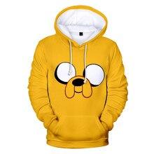 Adventure Time Finn And Jake The Dog Face Hoodie Sweatshirt Men Women Fleece 3D Hoodies Pullover Streetwear Jacket Coat Clothes