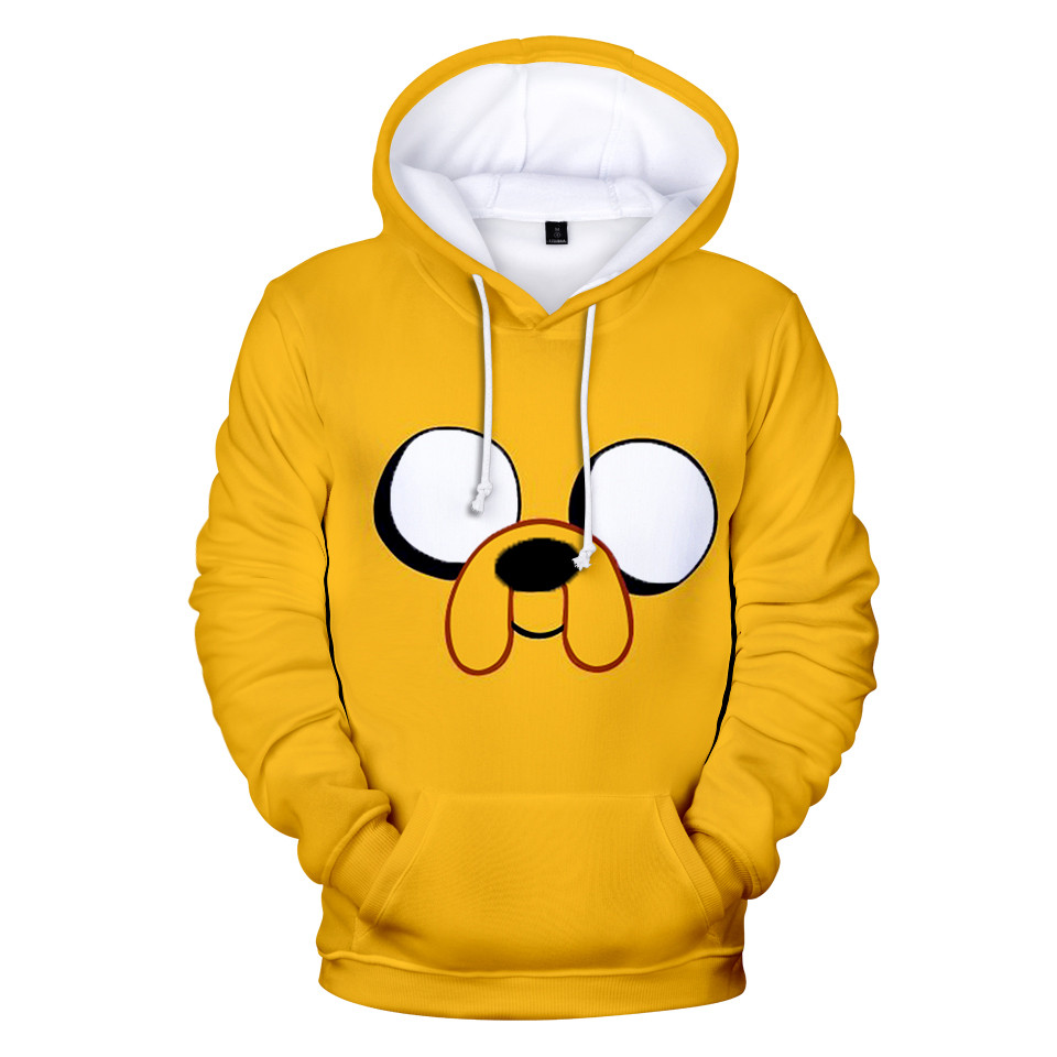 Adventure Time Finn And Jake The Dog Face Hoodie Sweatshirt Men Women Fleece 3D Hoodies Pullover Streetwear Jacket Coat Clothes