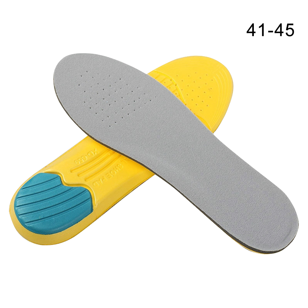 1Pair Foot Care Memory Foam Insoles Can Be Cut Men Women Outdoor Deodorize Mountaineering Sports Orthotic Shoe Pad Reusable