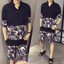 Летняя мужская футболка с короткими рукавами + шорты спортивный