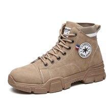Мужские ботинки на шнуровке зимняя обувь модные высокие кроссовки