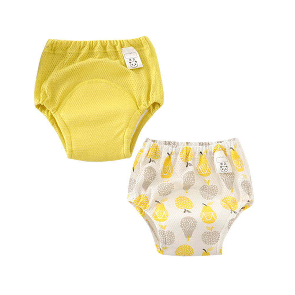 2 Pcs Reusable Cotton Baby Kids Infant Potty Training Pants Underwear Cloth Diapers For Newborn Diapering And Toilet Training
