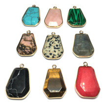 Multicolor Irregular Natural Stone Necklace & Pendants Charms for Jewelry Making Diy Christmas Gifts