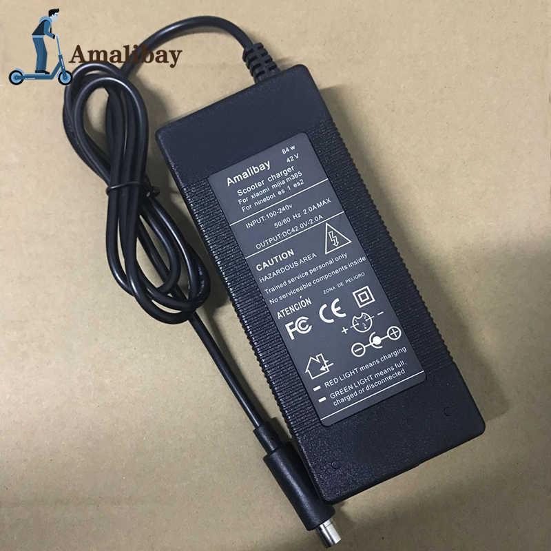 電動スクーターの充電器アダプタ 42v 2A xiaomi Mijia M365 ため Ninebot Es1 Es2 ES4 電動スクーターパーツ Kickscooter 充電器
