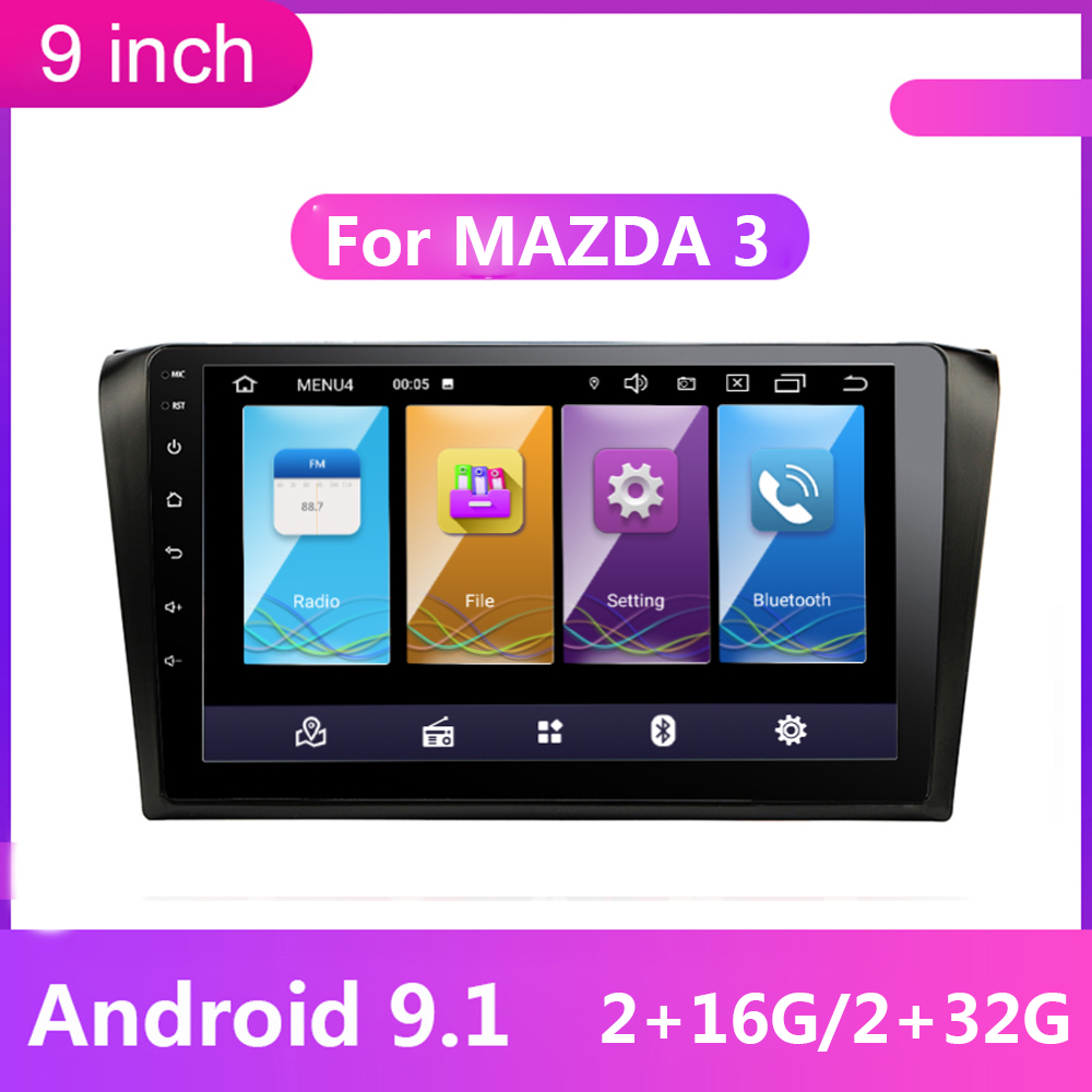 Android 9 inch 2 Din Car <font><b>Multimedia</b></font> Player GPS Navigation For <font><b>Mazda</b></font> <font><b>3</b></font> mazda3 2004 2005 2006 <font><b>2007</b></font> 2008 2009 2din Autoradio Stereo image