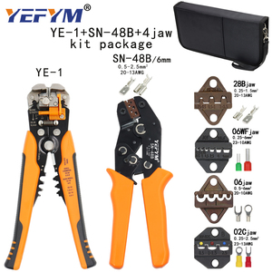 Image 2 - Kit crimping tools SN 48B pliers jaw kit stripping wire cutters pliers for plug/tube/insulation terminals calmp tools