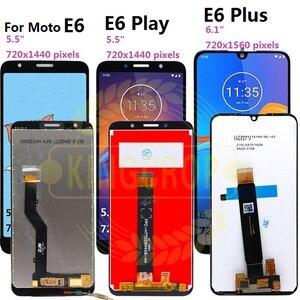 Image 2 - Pantalla LCD para Motorola Moto E6s E6 Play E6 Plus, Sensor de ensamblaje de digitalizador con pantalla táctil para moto E6 Plus E6 E6S LCD con marco