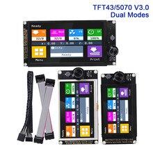 BIGTREETECH TFT43 TFT50 TFT70 V3.0 Tela Sensível Ao Toque WIFI Para SKR V1.3 V1.4 MINI E3 ender 3 3D Impressora Peças MKS TFT35 E3 V3