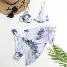 Maillot de bain bleu teint par nouage, String G, culotte tanga, Sexy, Bikini, pour femmes
