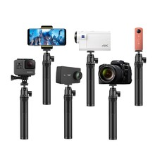 Sports Camera Selfie Stick Retractable Adjustable Handheld Camera Mobile Selfie Stick Monopod Tripod for GoPro 5 DJI Action Came