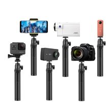 Sports Camera Selfie Stick Retractable Adjustable Handheld Camera Mobile Selfie Stick Monopod Tripod for GoPro 5 DJI Action Came(China)