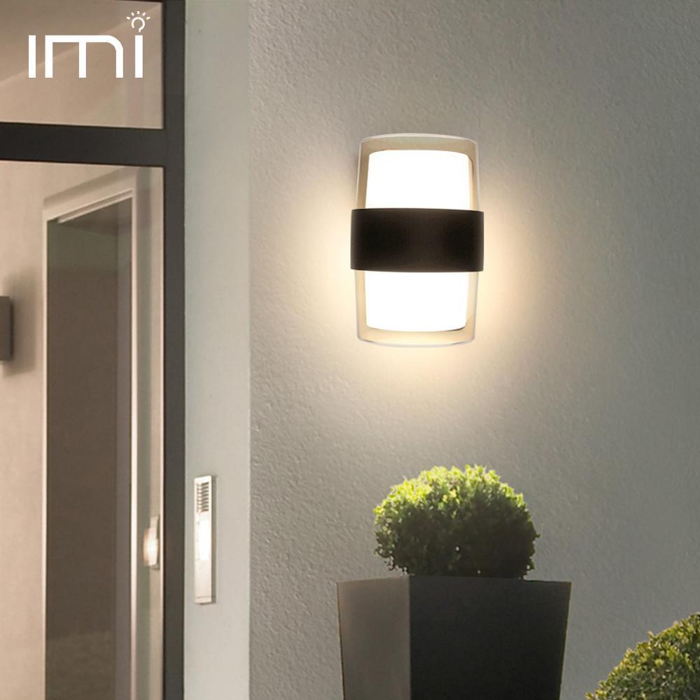 Modern LED Wall Lamp Outdoor Lighting 9W 18W Waterproof IP54 Garden Corridor Balcony Courtyard Living Room Acrylic Light AC 220V