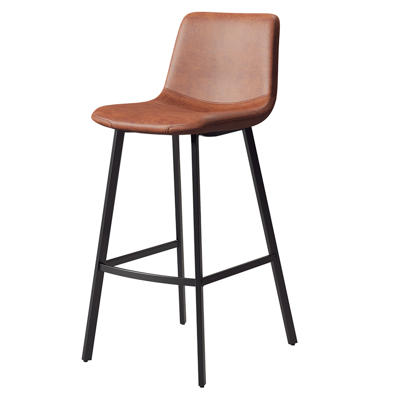 Nordic Home Bar Chair Backrest Bar Stool Ins Net Red Modern Simple Iron Bar Chair Light Luxury High Stool