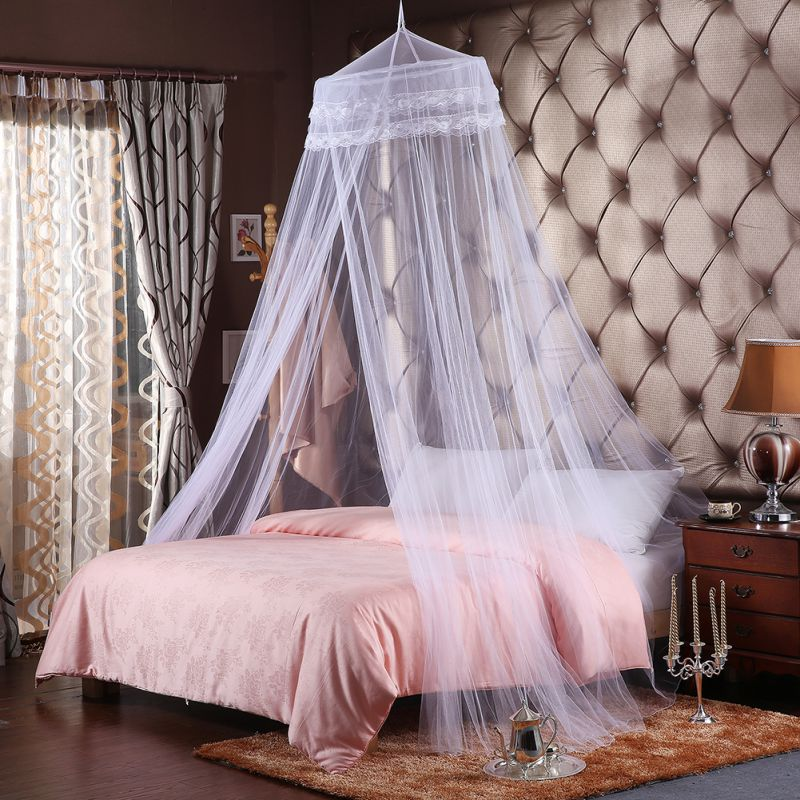 Summer New Romantic Pink Round Mosquito Lace Net For Baby Hung Dome Bed