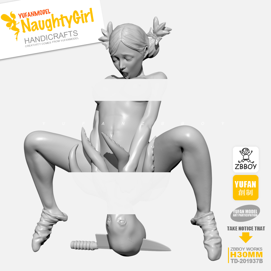 30MM Resin Kits Model Naughty Girl Series Octopus Resin Soldier Self-assembled TD-201937-30