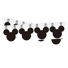 Chalkboard  Labels 2.25 x 2 Inch Mickey Mouse Vinyl 60 Stickers Per Pack