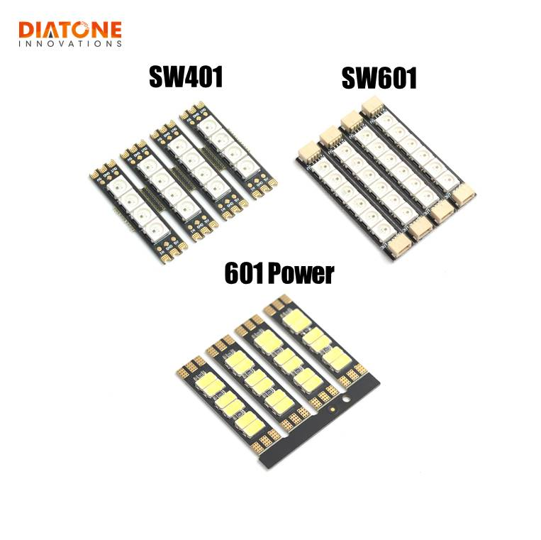 4 PCS Diatone MAMBA SW401 SW601 601 Power Light Board Extension 5V Colorful Power LED Strip Light Board For Mamba F722S RC Drone