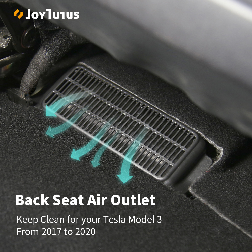 2pcs Car Air Outlet Cover For Tesla Model 3 2017-2020 Under Seat Air Vent Anti-blocking Dust Cover Accessories