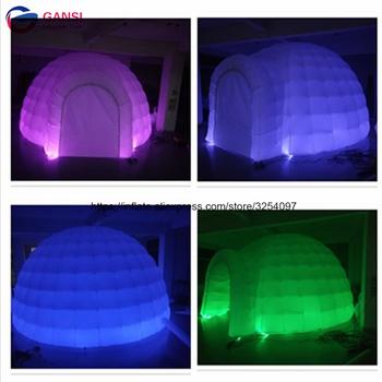 цена на Free shipping inflatable lighting party dome tent customized size inflatable event tent with led light