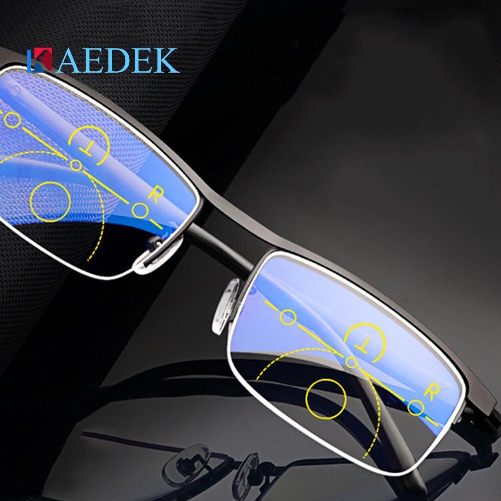 Image 2 - KAEDEK Vintage Reading Glasses Women Men Retro Alloy Prescription Eyewear Rectangle Business Hyperopia Presbyopia EyeglassesWomens Reading Glasses   -