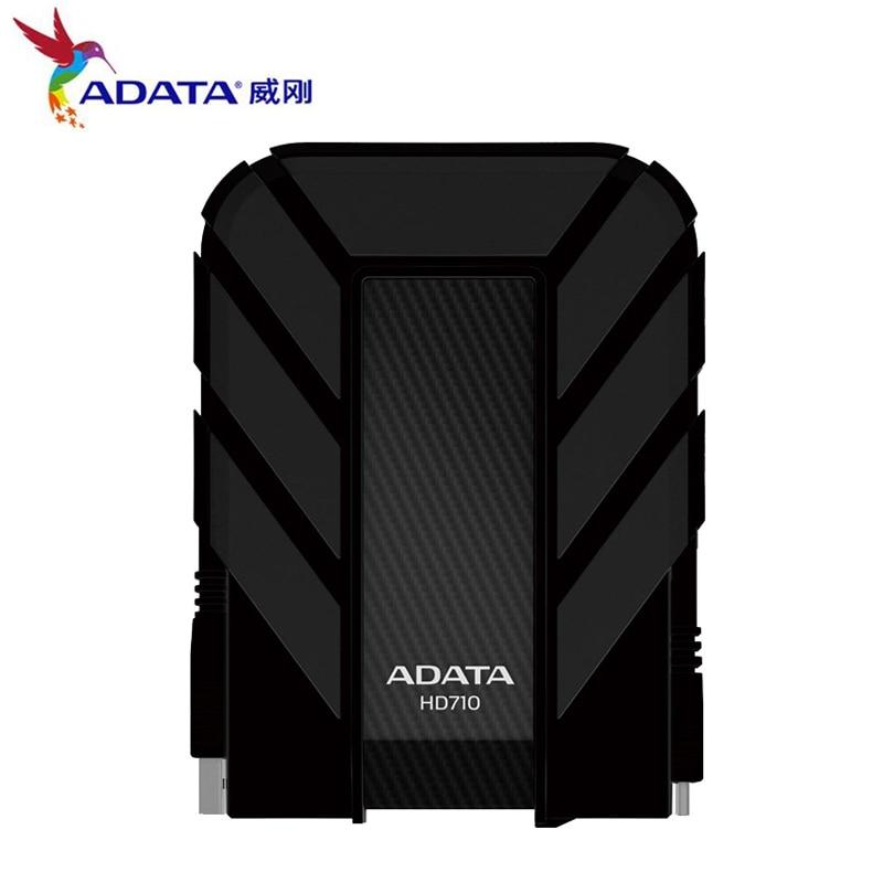 AData New External HDD 1TB 2TB HD710 Pro USB3.1 2.5-inch Portable Hard Drive Military Standard Shockproof IEC Dustproof 1