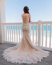 Vestido De Noiva Sereia Sexy V Neck Lace Mermaid Wedding Dresses 2019 Sheer Back Bride Dress Bridal Gowns Robe Mariee