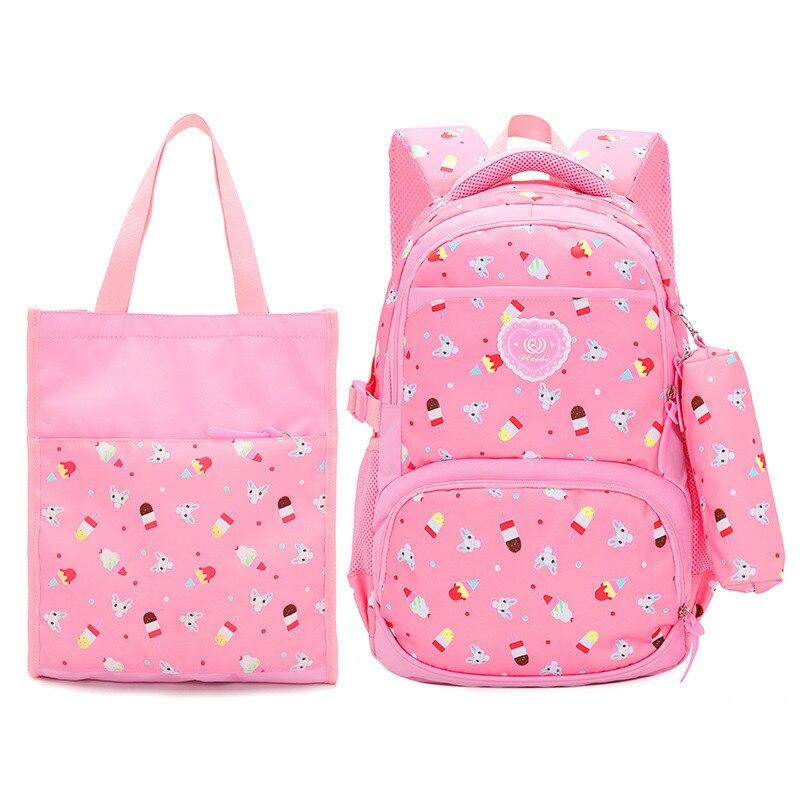 3pcs/set School Bags Schoolbag Fashion Kids Lovely Backpacks For Children Teenage Girls School Student Printing Backpack Mochila