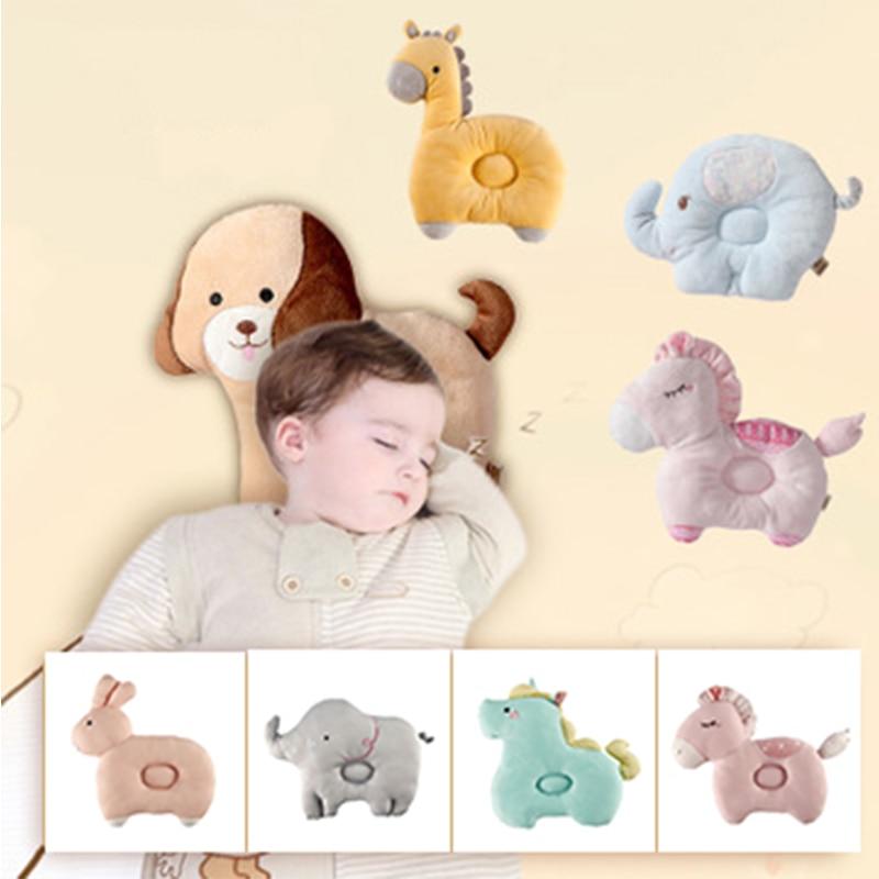 bebe travesseiro recem nascido dos desenhos animados respiravel bebe dar forma travesseiros evitar cabeca plana animais