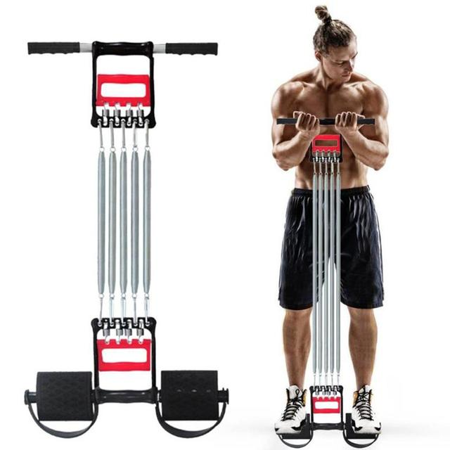 Body Building Foot Sit Up Spring Pedal Fitness Equipment Rally Home Office Portable Muscles Strengthen Physical Pull Rope